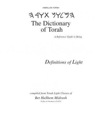 Torah Dictionary