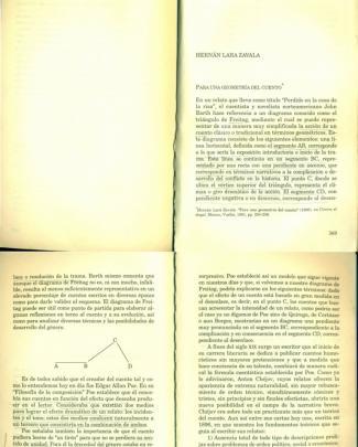 Lara Zavala, Hernán. Para Una Geometría Del Cuento
