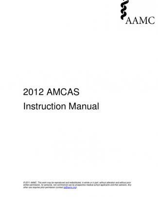 2012 Amcas Instruction Manual