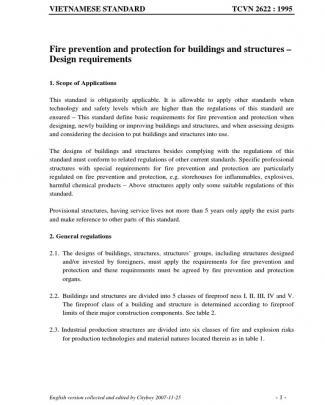 Tcvn 2622-1995 Fire Prevention Standards (en)