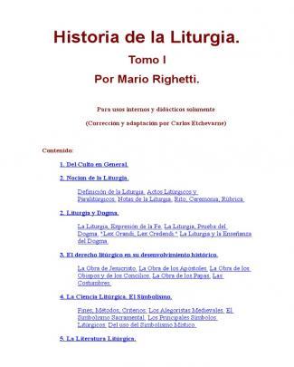 Historia De La Liturgia