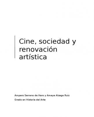 Cine Sociedad Y Renovacic