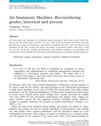 An Immanent Machine Tocci 2010