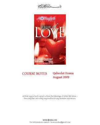Hosna - Fiqh Of Love Notes
