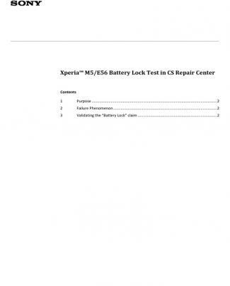 Xperia M5 E56 Battery Lock Test In Cs Repair Center