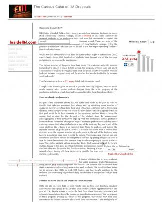 The Curious Case Of Iim Dropouts « Insideiim