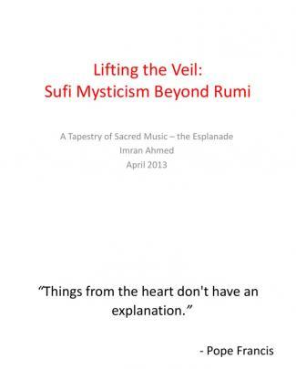 Lifting The Veil:  Sufi Mysticism Beyond Rumi