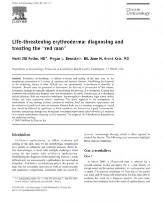 Rothe Et Al. (2005) - Life-threatening Erythroderma- Diagnosing And Treating The Red Man