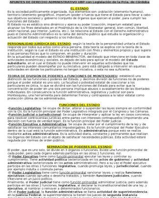 Apunte Administrativo Ubp Con Legislacion De Cordoba