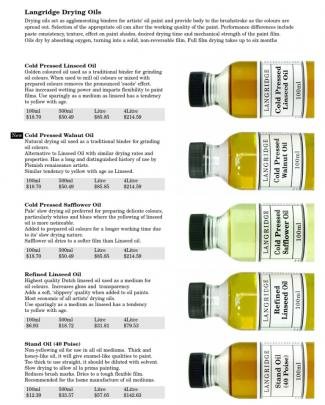 Langridge Oil Mediums Rrp