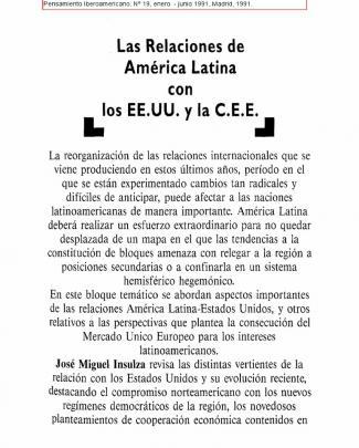 Insulza, José Miguel (1991) - Estados Unidos Y América Latina En Los Noventa