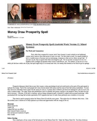 Money Draw Prosperity Spell