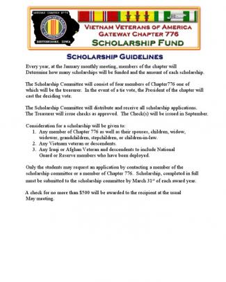 Vva Chapter 776 Scholarship Application Package