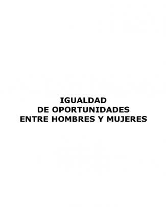Curso - Igualdad De Oportunidades Entre Hombres Y Mujeres