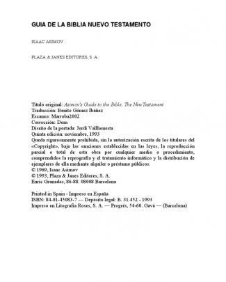 Asimov Isaac - Guia De La Biblia (nuevo Testamento)