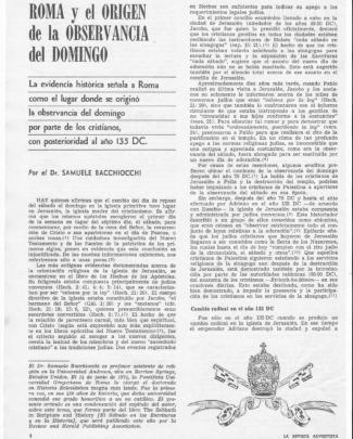 Samuele Bacchiocchi - [roma Y El Origen De La Observancia Del Domingo]