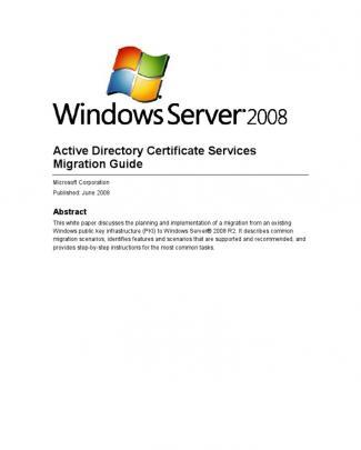 Ad Cs Migration 2008 R2