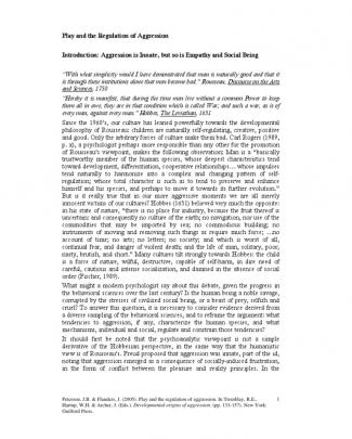 Bc 08 2005 Play And The Regulation Of Aggression. Devel Orig Aggress