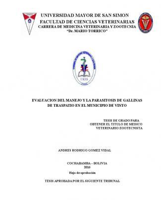 Manejo Y La Parasitosis De Gallinas De Traspatio