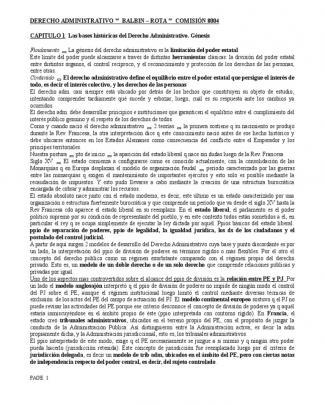 Resumen Derecho Administrativo Argentino