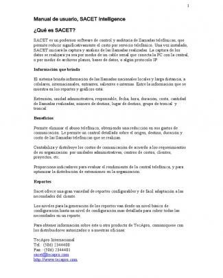 Manual De Usuarios De Sacet