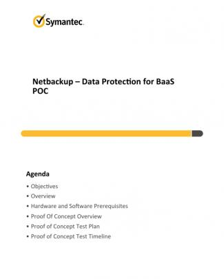 Baas Netbackup Poc
