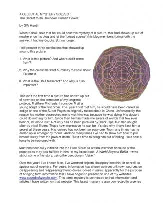 The Dna Tesseract
