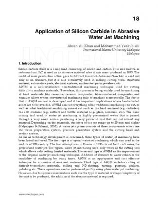 Application Of Silicon Carbide In Abrasive Waterjet Machining