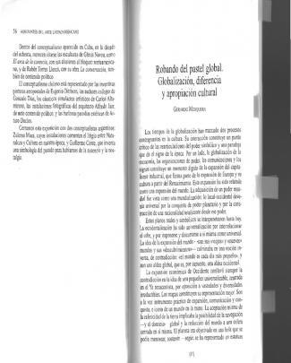 29330830 Mosquera Gerardo Robando Del Pastel Global Globalizacion Diferencia Y Apropiacion Cultural