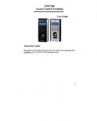 168gnj F707 F708 User Manual