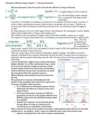 Principles Of Pharmacology - Chapter 2