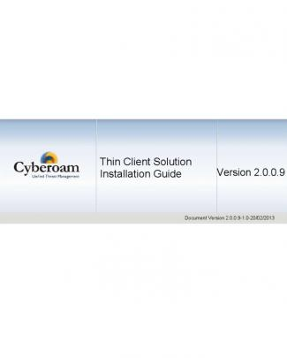 Cyberoam Authentication For Thin Client (catc) Installation Guide V 2.0.0.9
