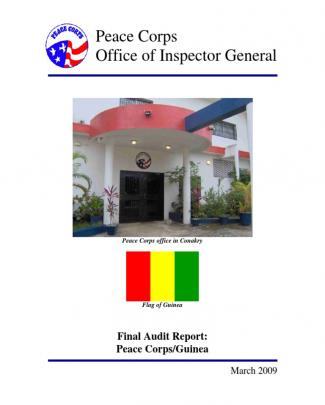Peace Corps Guinea Final Audit Report Ig0909a