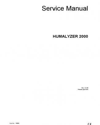 Human Photometer Humalyzer 2000 - Service Manual
