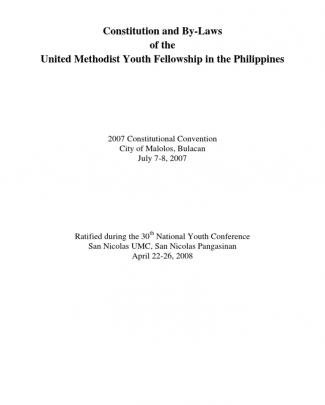 The Umyfp Constitution And By-laws 2008