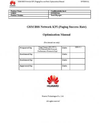11 Gsm Bss Network Kpi (paging Success Rate) Optimization Manual