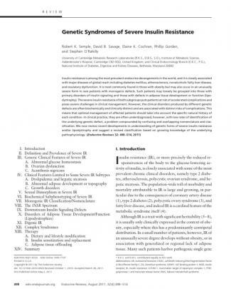 Sindromes De Insulino Resistencia