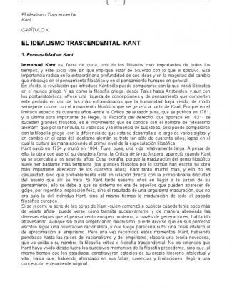Capitulo X - Carpio - Kant - El Idealismo Trascendental