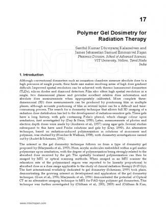 17-polymer Gel Dosimetry For