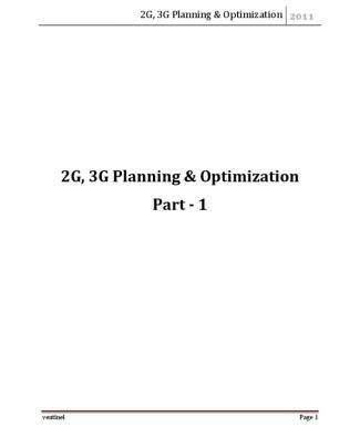 2g&3g Planning & Optimization - Part-1