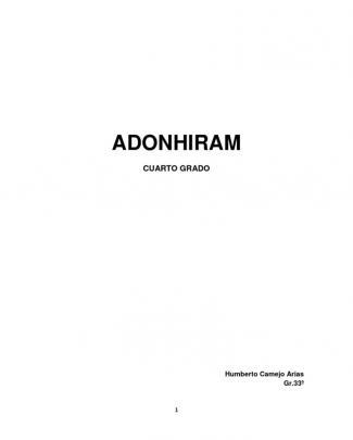 Adoniram. Cuarto Grado