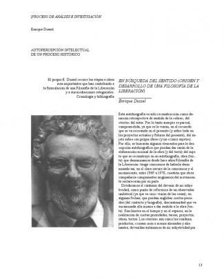 Autopercepcion Intelectual De Un Proceso Historico