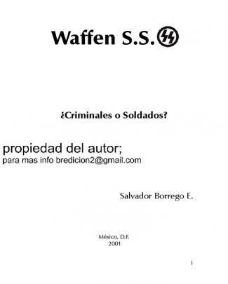 Waffen Criminales O Soldados Salvador Borrego
