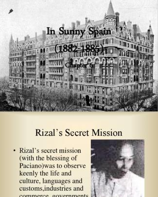 Rizal Chapter 6: In Sunny Spain