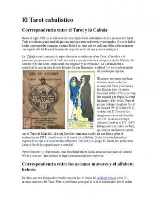 El Tarot Cabalístico