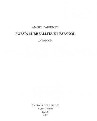 Poesia Surrealista En Español. Antología