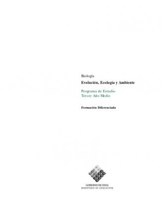 Programa De Estudio 3º Medio Biología Evolución, Ecología Y Ambiente