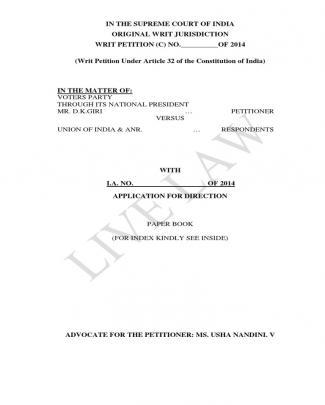 Election Writ Final 25.02.2014