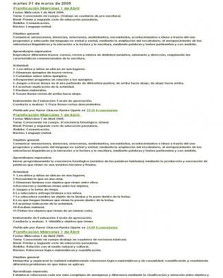 Planificacion Prekinder 2012