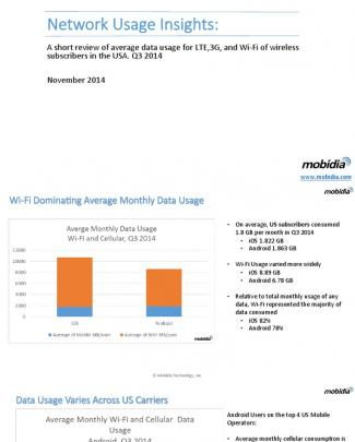 Mobidia Network Usage Data Q3 2014 Final